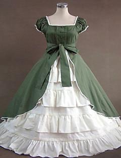 billiga Lolitaklänningar-Gotisk Lolita Klassisk / Traditionell Lolita Steampunk® Spets Dam Klänningar Cosplay Ärmlös Lång längd Halloweenkostymer