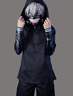 """billige Anime cosplay-Inspirert av Tokyo Ghoul Ken Kaneki Anime  """"Cosplay-kostymer"""" Cosplay Klær Ensfarget Langermet Frakk / Topp / Bukser Til Herre / Dame"""