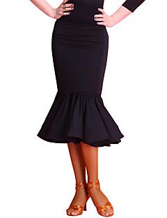 ラテンダンス ボトムズ 女性用 訓練 ナイロン スパンデックス ベルベット 1個 ナチュラルウエスト スカート
