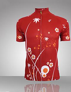 GETMOVING Sykkeljersey Dame Kortermet Sykkel Jersey Topper Anatomisk design Ultraviolet Motstandsdyktig Fukt Gjennomtrengelighet Pustende