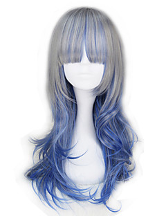 billiga Lolitamode-Lolita-peruker Lolita Blå Prinsess Lolita Lolita-peruker 55 CM Cosplay-peruker Halloween Peruk Till