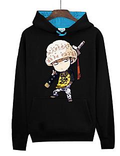 """billige Anime Kostymer-Inspirert av One Piece Monkey D. Luffy Anime  """"Cosplay-kostymer"""" Cosplay gensere Trykt mønster Langermet Topp Til Herre Dame"""