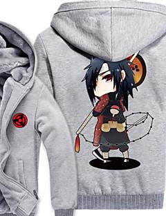 """billige Anime cosplay-Inspirert av Naruto Naruto Uzumaki Anime  """"Cosplay-kostymer"""" Cosplay gensere Trykt mønster Langermet Topp Til Mann"""