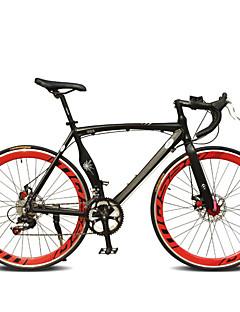 baratos Total Promoção Limpa Estoque-Bicicletas de estrada Ciclismo 7 Velocidade 26 polegadas / 700CC SHIMANO TX30 Freio a Disco Duplo Comum Manocoque Comum Liga de alumínio / #