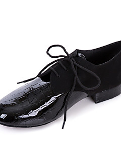 hesapli -Erkek Modern Dans Ayakkabıları / Balo Yapay Deri Oxford Düşük Topuk Kişiselletirilmemiş Dans Ayakkabıları Siyah