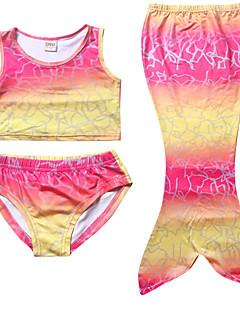billige Badetøj til piger-Pige Undertøj Polyester Sommer Elastisk Rosa