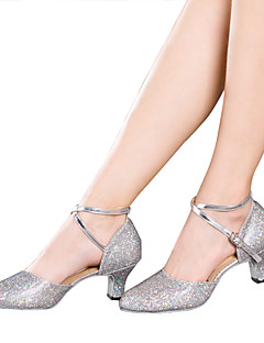 cheap -Women's Latin Shoes Sparkling Glitter / Paillette / Synthetic Sandal / Heel / Sneaker Indoor Sequin / Appliques / Sparkling Glitter Cuban