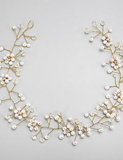 模造真珠のラインストーン合金のヘッドバンドヘッドピースのエレガントなスタイル