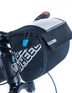 cheap Bike Bags-ROSWHEEL Bike Bag 3L Bike Handlebar Bag Moistureproof/Moisture Permeability Waterproof Zipper Wearable Shockproof Bicycle Bag PU Leather