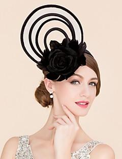 preiswerte Hochzeiten & Feste-Flachs Feder Seide Fascinatoren Hüte 1 Hochzeit Besondere Anlässe Normal Kopfschmuck