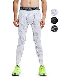 billiga Träning-, jogging- och yogakläder-Vansydical® Herr / Dam Baslager / Tights för jogging / Gymleggings - Vit, Grå, Grön sporter Cykling Tights Sportkläder Snabb tork,