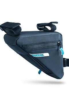 cheap Bike Bags-ROSWHEEL Bike Bag 1.2L Bike Frame Bag Moistureproof/Moisture Permeability Waterproof Zipper Wearable Shockproof Bicycle Bag PU Leather
