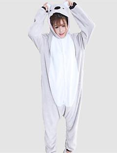 billige Kigurumi-Voksne Kigurumi-pysjamas Koala Onesie-pysjamas Kostume Flanell Fleece Grå Cosplay Til Pysjamas med dyremotiv Tegnefilm Halloween Festival / høytid