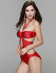 Kvinner Utskjæring Ensfarget Grime En del Bikini Spandex Nylon