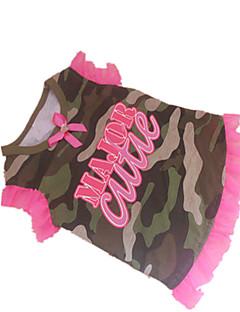 お買い得  犬用ウェア-犬 Tシャツ 犬用ウェア 文字&番号 迷彩色 コットン コスチューム ペット用 クラシック