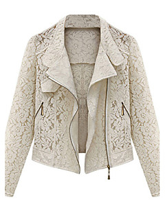 ZAY Women's Lace Hollow Out Cardigan All Match Short Coat Spring Autumn