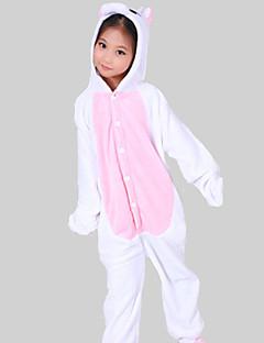 잠옷 Unicorn 올인원 파자마 코스츔 플란넬양털 핑크 코스프레 에 대한 키드 동물 잠옷 만화 할로윈 페스티발 / 홀리데이