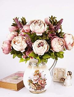 preiswerte Promotion-1 Ast Seide Pfingstrosen Tisch-Blumen Künstliche Blumen