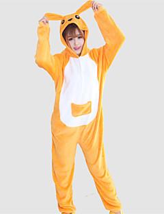billige Kigurumi-unisex korall fleece gul kenguru kigurumi pyjamas