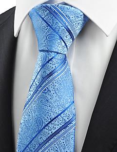 billige Slips og sløyfer-Herre Fest Kontor Grunnleggende Slips Paisly Bomull Rayon Polyester
