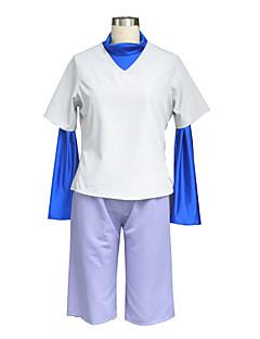 billige Anime cosplay-Inspirert av Hunter X Hunter Killua Zaoldyeck Anime Cosplay Kostumer Cosplay Suits Ensfarget Hvit Vest / T-skjorte / Shorts