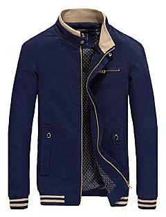 メンズカジュアル/毎日の冬の秋のジャケット、しっかりしたスタンドカラーのレギュラーコート