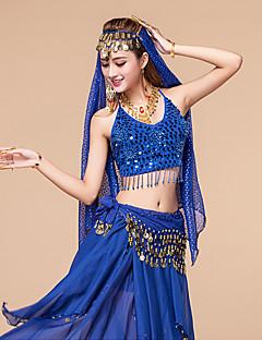 Žene-Outfits- zaTrbušni ples(Plav / Fuksija / Ljubičasta / Crvena / Royal Plava / žuta,Šifon,Paillettes)