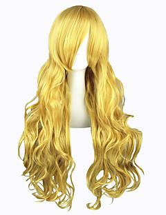 billige Anime cosplay-Cosplay Parykker Touhou Projekt Marisa Kirisame Gull Lang Anime Cosplay Parykker 80 CM Varmeresistent Fiber Mann / Kvinnelig