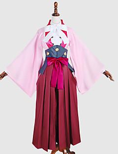 """billige Anime cosplay-Inspirert av Kabaneri Of The Iron Fortress Ayame Anime  """"Cosplay-kostymer"""" Cosplay Klær / Cosplay Topper / Underdele / Japansk Kimono Ensfarget / Lapper Frakk / Genser / Hodeplagg Til Dame"""