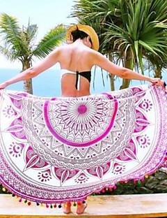 Χαμηλού Κόστους Πετσέτα Παραλίας-Γυναικεία Που καλύπτει - Στάμπα Γεωμετρικό