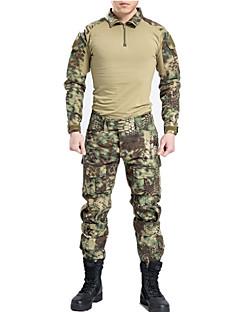 カモフラージュ柄ハンティングTシャツ 速乾性 耐久性 高通気性 耐衝撃性の 男性用 女性用 男女兼用 長袖 スポーツ カモフラージュ シャツ コンプレッションウェア サイクリングタイツ Tシャツ パンツ トップス ボトムズ のために キャンピング&ハイキング 狩猟 オートバイ