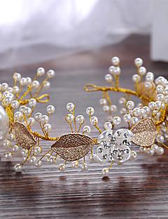人造真珠 合金 ヘッドバンド かぶと