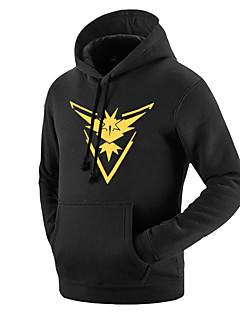 Esinlenen Pocket Little Monster Küçük canavar Video oyun Cosplay Kostümleri Cosplay Hoodies Desen Geometrik Uzun Kollu Palto