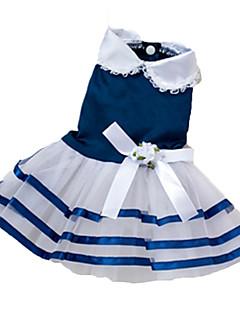 お買い得  犬用ウェア-犬 ドレス 犬用ウェア 蝶結び レッド ブルー ピンク コスチューム ペット用
