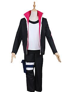 """Inspirert av Naruto Naruto Uzumaki Anime  """"Cosplay-kostymer"""" Cosplay Klær EnsfargetFrakk Topp Bukser Hodeplagg Mer Tilbehør"""