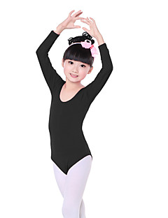 cheap Shall We®-Ballet Leotards Children's Training Cotton Ruffles Long Sleeves Natural Leotard/Onesie