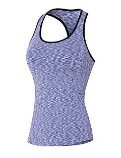billige Løbetøj-Dame Uden ærmer Hurtigtørrende, Åndbart, Svedreducerende Tank Tops / Sweatshirt for Yoga / Træning & Fitness / Løb Rød / Grøn / Blå L /