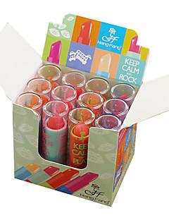 billiga Läppar-Sminkredskap Läppstift 12 pcs Fuktig Fukt Smink Kosmetisk Dagligen Skötselprodukter