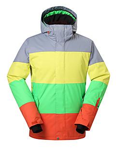 GSOU SNOW Homens Jaqueta de Esqui Prova-de-Água Térmico/Quente A Prova de Vento Resistente Raios Ultravioleta Isolado Permeável á