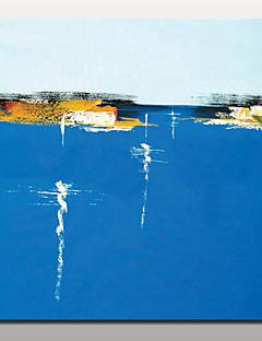 baratos Paisagens Abstratas-Pintura a Óleo Pintados à mão - Paisagens Abstratas Modern Com Moldura