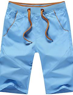 billige Herrebukser og -shorts-Herre Bomull Tynn Rett / Løstsittende / Shorts Bukser Ensfarget / Helg