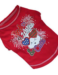 baratos -Cachorro Camiseta Roupas para Cães Respirável Roxo Vermelho Azul Ocasiões Especiais Para animais de estimação
