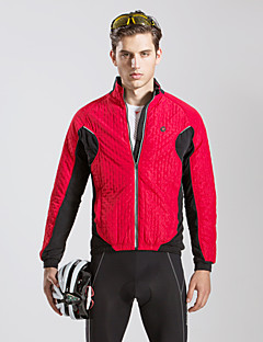 cheap Cycling Jackets-TASDAN Men's / Women's Cycling Jacket Black / Red Bike Winter Jacket / Windbreaker / Jacket Thermal / Warm, Breathable, Reflective Strips