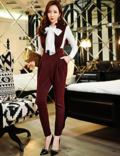 DABUWAWA Women's Solid Slim Pants,Vintage / Street chic / Sophisticated
