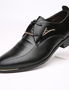 Erkek Oxford Modeli Biçimsel Ayakkabı Deri Bahar Yaz Sonbahar Kış Günlük Biçimsel Ayakkabı Düz Topuk Siyah Kahverengi 1inç-1 3/4inç