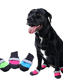 billiga Hundkläder-Katter / Hundar Skor och stövlarVattentät / Cosplay / Halloween / Födelsedag / Jul / Semester / Nyår / Randig / Håller värmen / Mode /