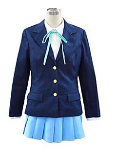 """billige Anime Kostymer-Inspirert av K-ON Hirasawa Yui Anime  """"Cosplay-kostymer"""" Cosplay Klær Skoleuniformer Ensfarget Langermet Halsklut Frakk Trøye Skjørte Til"""