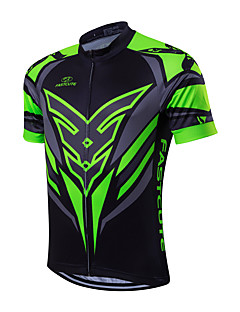 Fastcute Cycling Jersey Men's Short Sleeves Bike Jersey Tops Quick Dry Front Zipper Breathable Sweat-wicking Back Pocket Coolmax Classic