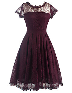 Women's Lace Daily / Formal Vintage Sheath Dress