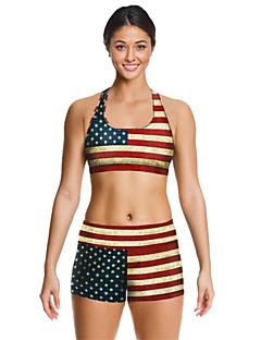 女性用 スポーツブラ ランニングショーツ 速乾性 高通気性 洋服セット のために ヨガ エクササイズ&フィットネス ランニング テリレン